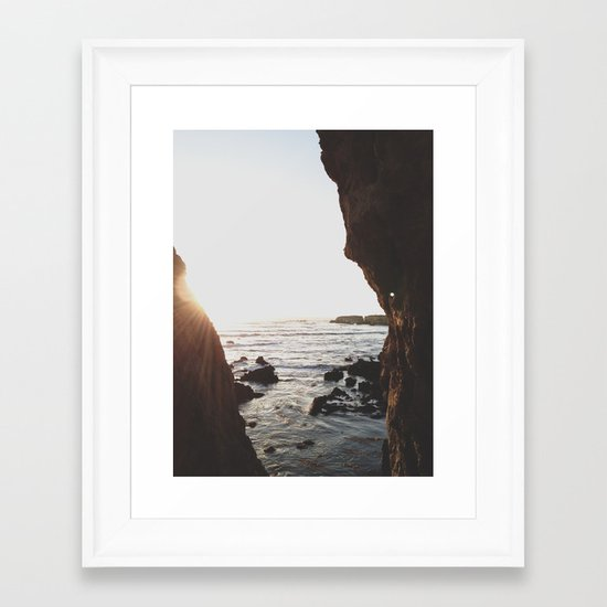 Shell Beach View Framed Art Print