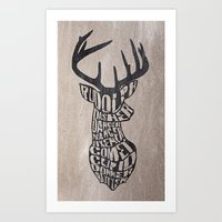 Rudolph And Friends Art Print