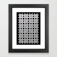 Silver Snow Framed Art Print