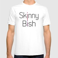 Skinny Bish Mens Fitted Tee White SMALL