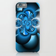 Silver and blue fractal iPhone 6 Slim Case