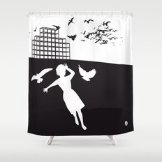 The Black Collection' Birds Shower Curtain