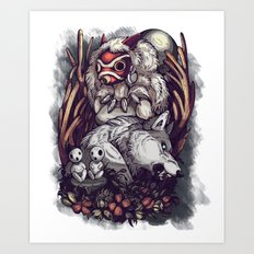 Mononoke background Art Print