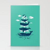 Whale Of A Time Stationery Cards