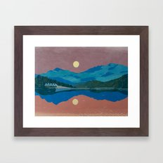 Long Lake Framed Art Print