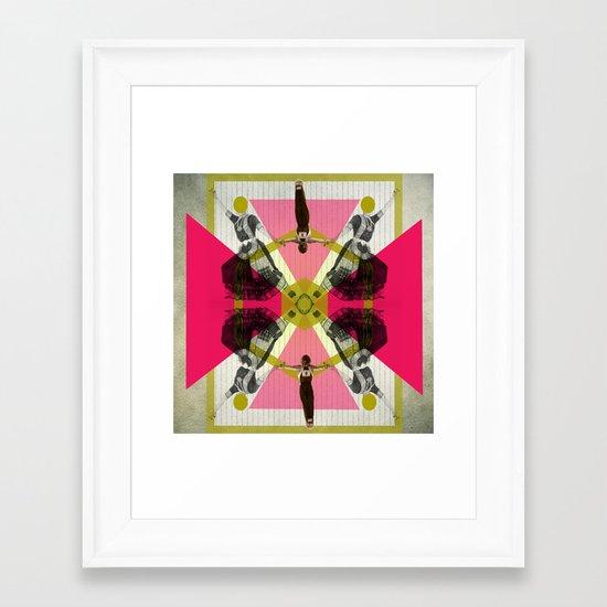 Bollywood geometrical gym Framed Art Print