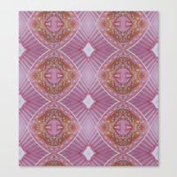 Pink Umbrella's Made Of … Canvas Print