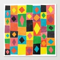Elementary Diamonds. Canvas Print