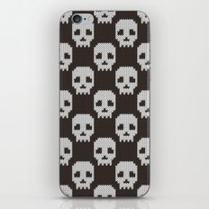 Knitted skull pattern iPhone & iPod Skin