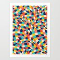 Curved Squares Art Print
