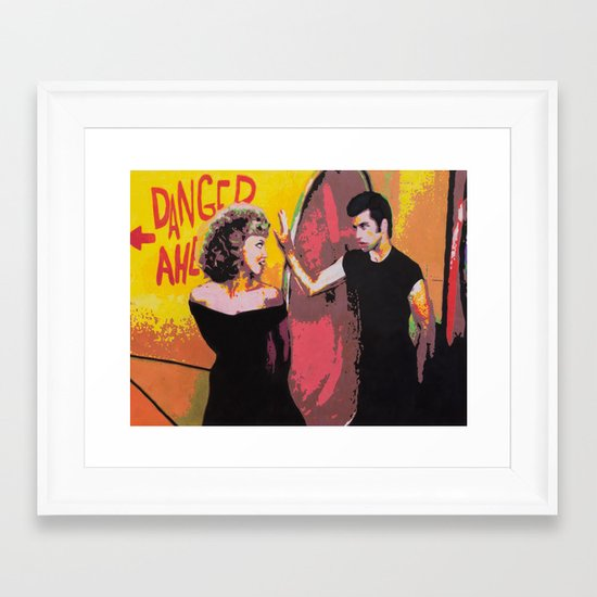 Danny and Sandy Framed Art Print