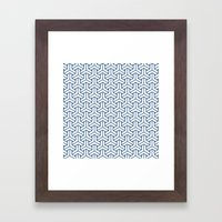 bishamon in monaco blue Framed Art Print