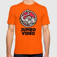 Jumbo Video Mens Fitted Tee Orange SMALL