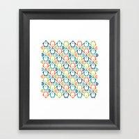 NGWINI - penguin love pattern 5 Framed Art Print
