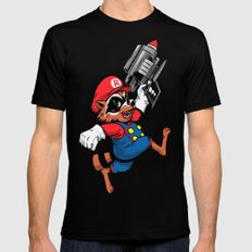 Super Rocket SMALL Mens Fitted Tee Black