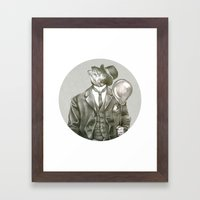 In which a dapper fish is encircled Framed Art Print