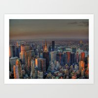 NEW YORK SUNSET Art Print