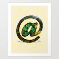 At Sign {@} Series - Coo… Art Print