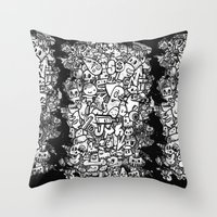 Misspent Youth Watercolo… Throw Pillow