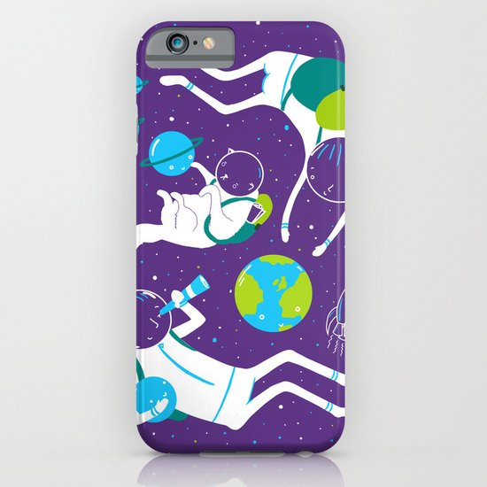 A Day Out In Space - Purple iPhone & iPod Case