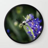 Blue Morning Dew Wall Clock