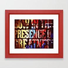 Greatness Framed Art Print