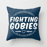 Fighting Gobies Nationals - White Throw Pillow