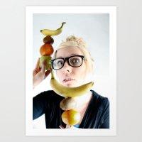 A good Food ballance is like math to a geek.... Art Print