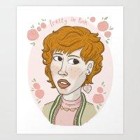 Pretty In Pink Portrait. Art Print