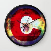 Colorado Flag/Galaxy Pri… Wall Clock