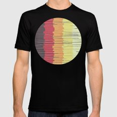 Shreds of Color 5 Mens Fitted Tee Black SMALL
