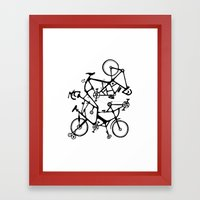 bike tuneup Framed Art Print
