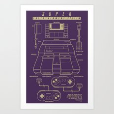 Super Entertainment System (dark) Art Print