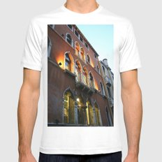 Lit Venice Residence White Mens Fitted Tee SMALL