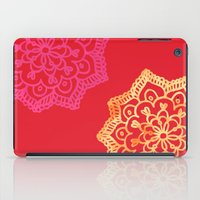Happy bright lace flower - red iPad Case