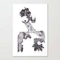Anabelle (B&W) Canvas Print