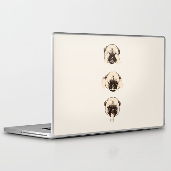 No Evil Pug  Laptop & iPad Skin