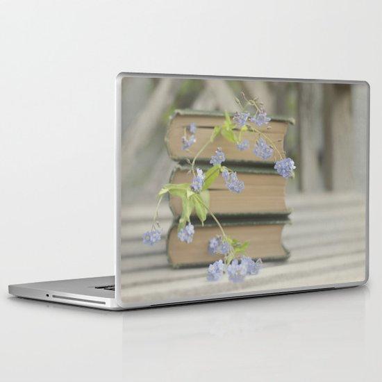 Forget Me Not Bookmark Laptop & iPad Skin
