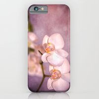 the white orchid - violet texture iPhone 6 Slim Case