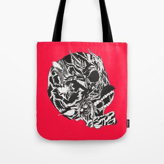 Skull Moustache Tote Bag