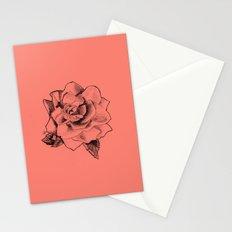Rose on Rose Stationery Cards