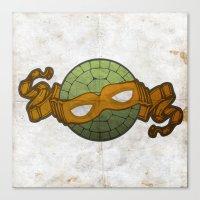 The Orange Turtle Canvas Print