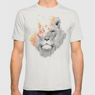 If I Roar (The King Lion… Mens Fitted Tee Silver SMALL