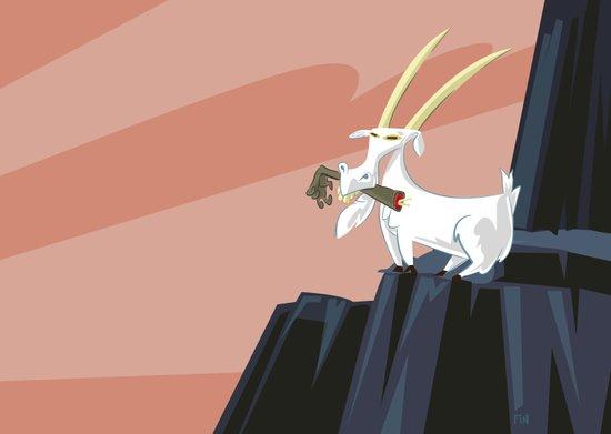 Trashmouth Goat, the Frost Giant Slayer Art Print