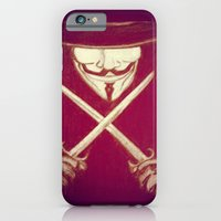 iPhone & iPod Case featuring V for Vendetta4 by Ezgi Kaya