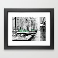 Christmas In Chicago Framed Art Print
