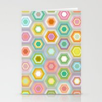 granny pastel hex Stationery Cards