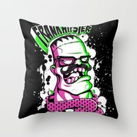 Frankhipster Throw Pillow