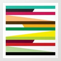 Irregular stripes #2 Art Print