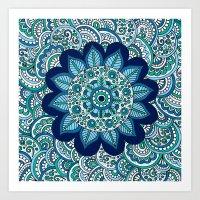 Ocean Flower Art Print